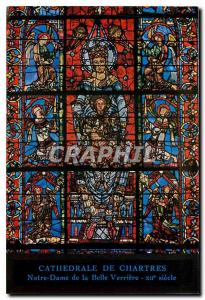 Moderne Karte Cathedrale de Chartres Notre-Dame de la Belle Verriere - XIIe  siecle