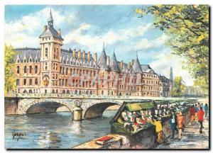 Moderne Karte Paris - La Conciergerie et les Bouquinistes
