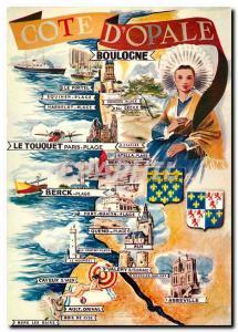 Moderne Karte La Cote d'Opale Boulogne
