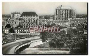 Moderne Karte Beauvais Oise Le Pont de Paris L'Eglise St Etienne et la Cathedrale St Pierre