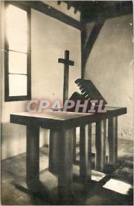 Moderne Karte Ch�teau d'ABONDANT La  chapelle La table de communion protestante