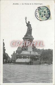 Ansichtskarte AK Paris La Statue de la Republique