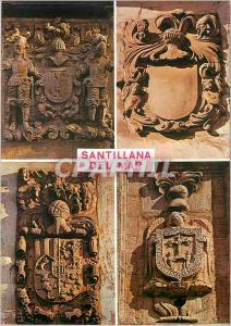 Moderne Karte Santillana del mar Santander Blasons de Santillana