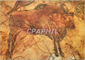 Moderne Karte Cuevas de Altamira Grand Bison