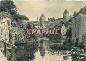 Moderne Karte Semur en Auxois C d'Or L'Armancon