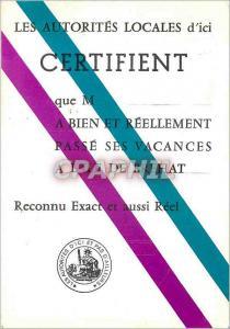 Ansichtskarte AK Les Autorites Locales d'ici Certifient