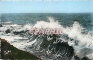Moderne Karte Veules les Roses S Mme La mer envoie sans fin ni treve