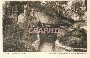 Ansichtskarte AK Fontainebleau La Foret Mont Aigu Grotte du Serment
