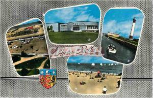 Moderne Karte RIVA-BELLA (Calvados) La Plage et le Golf Le Casino Le Phare La Plage Phare