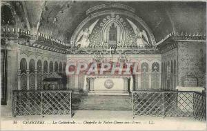 Ansichtskarte AK CHARTRES(E.L)-La Cathedrale .Chapelle de Notre Dame sous Terre