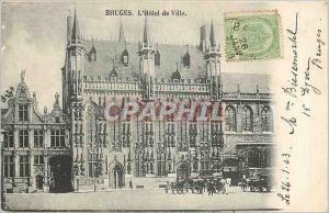 Ansichtskarte AK BRUGES-Hotel de Ville