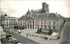 Moderne Karte Reims le palais de justice et la cathedrale