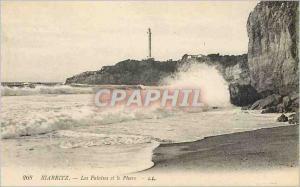 Ansichtskarte AK Biarritz Les Falaises et le Phare
