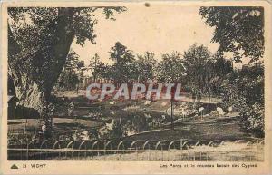 Ansichtskarte AK Vichy Les Parcs et le nouveau bassin des Cygnes