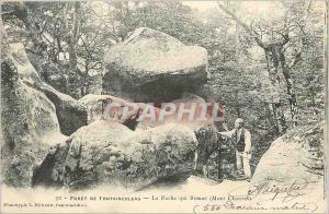 Ansichtskarte AK Foret de Fontainebleau  la Roche qui Remue Mont Chauvet