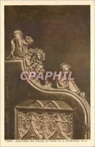 Ansichtskarte AK Thann Sculptures des Stalles du Choeur de la Cathedrale XVI