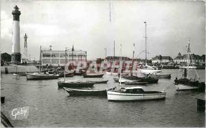 Moderne Karte Ouistreham Riva Bella Calvados Le Port et les Yachts Bateaux