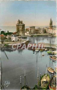 Moderne Karte La Rochelle Ch Mar Vue du Bassin et les Trois Tours Bateaux