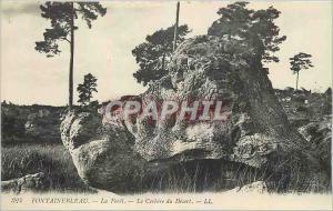 Ansichtskarte AK Fontainebleau La Foret Le Cerbere du Desert