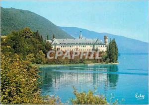 Moderne Karte Images de Chez Nous Sur les rives du Lac du Bourget l'Abbaye d'Hautecombe (Savoie)