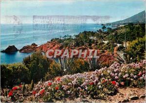 Moderne Karte Reflets de la Cote d'Azur La cote Mediterraneenne Rivages Fleuris
