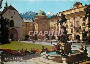 Moderne Karte Alpenstadt Innsbruck 574 m Hofburg mit Leopoldsbrun en end