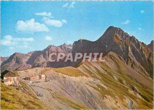 Moderne Karte Col du Tourmalet (alt 2113 m) Descente sur Bareges et laroute du Pic du Midi