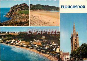Moderne Karte Bretagne Pointe du Raz (Finistere) Vue de la Pointe du Raz ou deferlent les grandes houles de l'