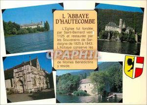 Moderne Karte Images de Chez nous Sur les rives du Lac du Bourget (Savoie) L'Abbaye d'Hautecombe la Facade sud