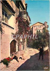 Moderne Karte La Cote d'Azur Saint Paul de Vence Vieille rue
