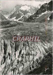 Moderne Karte Chamonix Mont Blanc (Hte Savoie) Les Crevasses de la mer de Glace