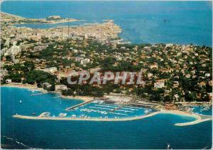 Moderne Karte Antibes Juan les Pins Le port de la Gallice Au fond Antibves et le Fort Carre