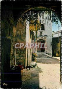 Moderne Karte Reflets de la Cote d'Azur Rue pittoresque dans un vieux village provencal