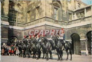 Moderne Karte The Royal Horse Guards at The Changing of the Guard Whitehall Militaria