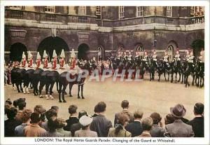 Moderne Karte London The Royal Horse Guard Parade Changing of the Guard at Whitehall Militaria