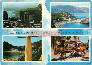 Moderne Karte Souvenir de Taormina