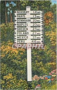 Moderne Karte Maine Sign Post Vacationland