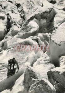 Moderne Karte Chamonix Hte Savoie Dans le seracs de la mer de glace Alpinisme