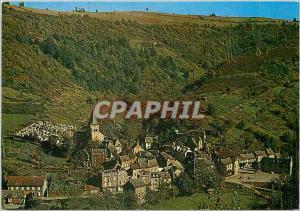 Moderne Karte Grand Vabre Aveyron Vue generale