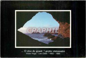 Moderne Karte O reve de granit grotte visionnaire Victor Hugo