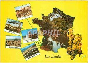Moderne Karte Les Landes Dax Hossegor Capbreton Biscarosse Vieux Boucau