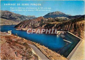 Moderne Karte Les Hautes Alpes Barrage et Lac de Serre Poncon Le Belvedere