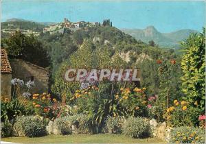 Moderne Karte La Cote d'Azur Saint Paul de Vence Vue generale