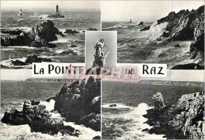 Moderne Karte La Pointe du Raz Finistere Extreme pointe Vue generale