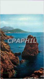 Moderne Karte Reflets de la Cote d'Azur Corniche d'Or Les Rochers du Dramont La Cathedrale