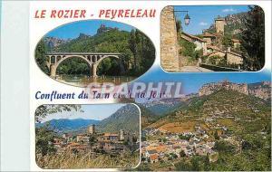 Moderne Karte Au confluent des Gorges du Tarn et de la Jonte Peyreleau Aveyron