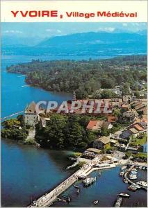 Moderne Karte Yvoire Haute Savoie Village medieval fleuri au bord du Lac Leman