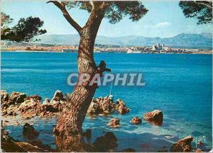 Moderne Karte La Cote d'Azur miracle de la nature Antibes Alpes Maritimes Vue Prise du Cap d'Antibes