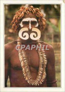 Moderne Karte Papua New Guinea Nouvelle Guinee Guerrier Asmat