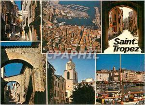 Moderne Karte Lumiere et Beaute de la Cote d'Azur Souvenir de Saint Tropez